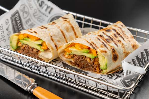 pulled beef burrito wrap