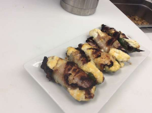 Jalapenos Wrapped in Bacon