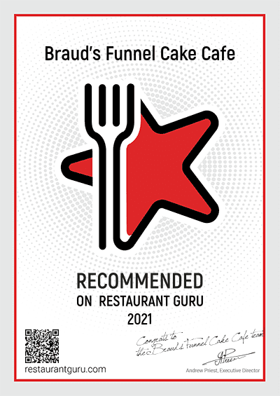 We have been awarded a Recommendation badge by Restaurant Guru based on customer reviews! THANK YOU!