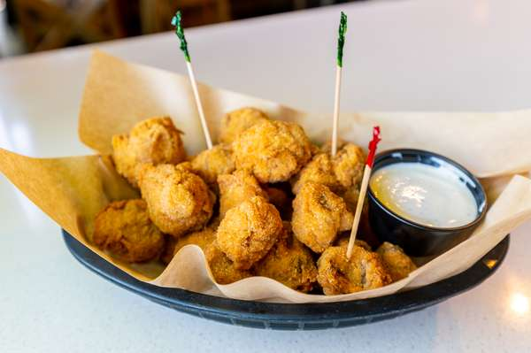 """Fried Mushrooms A.K.A. """"Golden Balls of Goodness"""""""