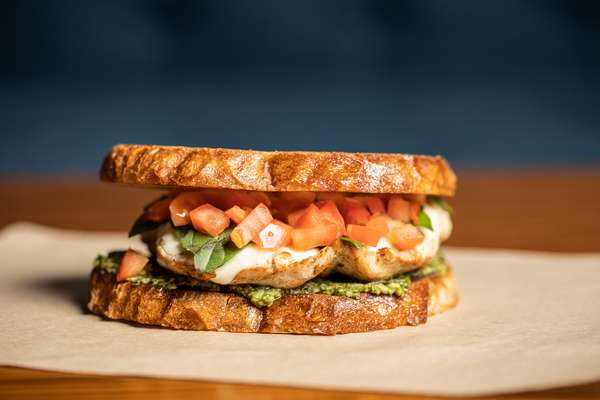 Chicken Pesto Caprese Sandwich