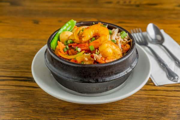 seafood clay pot