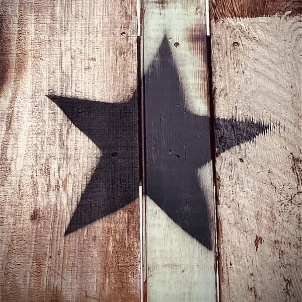 spray painted star