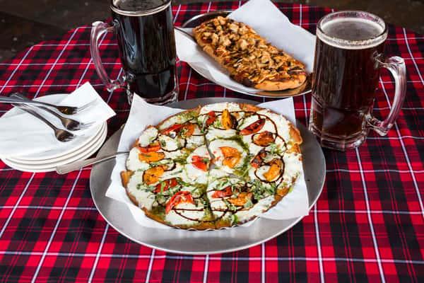 BBQ and margarita brew pub pizza