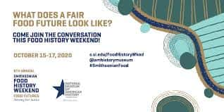 """""""What does a fair food future look like"""" Logo of Smithsonian museum"""
