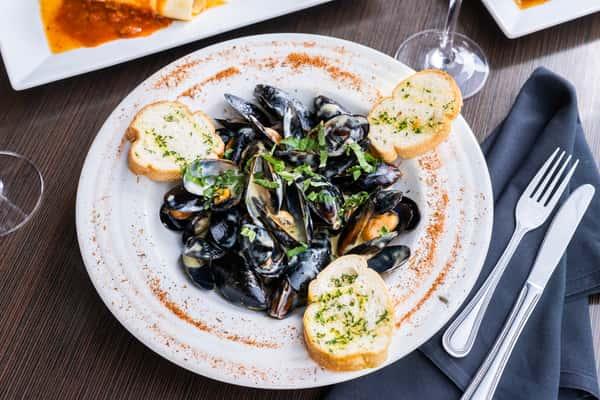 Wine Cream Mussels