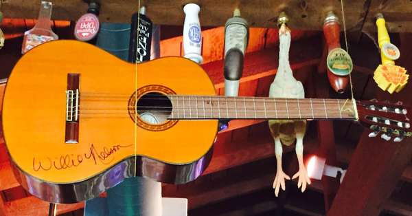 willie nelson signed guitar