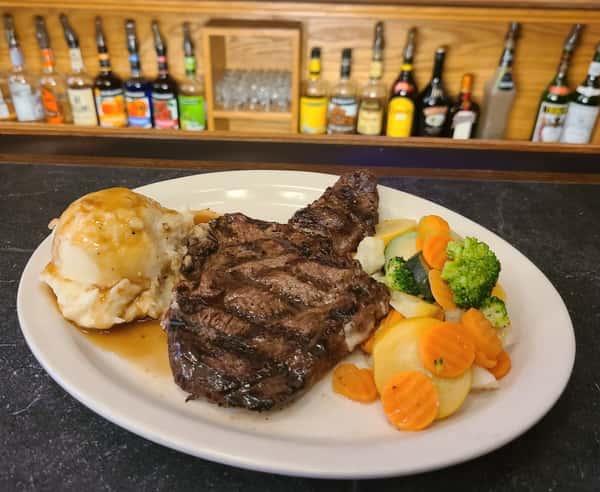 steak at bar