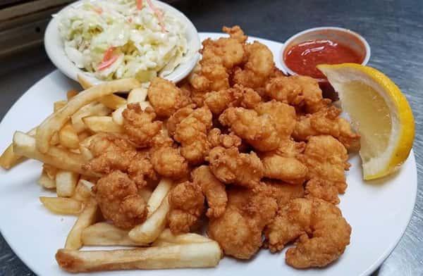 Fried Maine Shrimp & Chowder