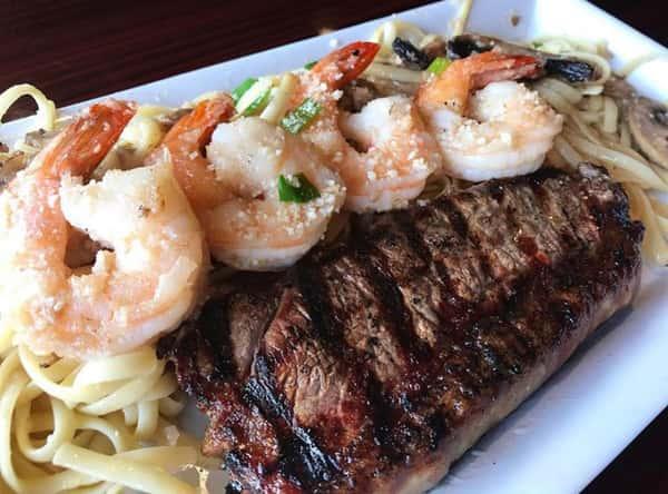 Sirloin & Shrimp Scampi