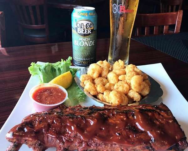 Baileys Baby Back RIbs and Fried Maine Shrimps