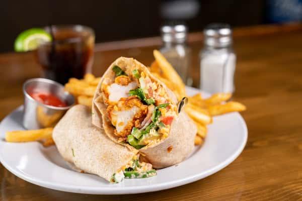 fried shrimp wrap