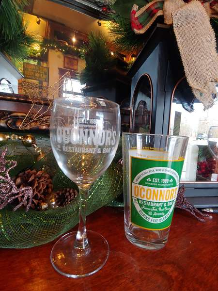 wine glass & beer glass
