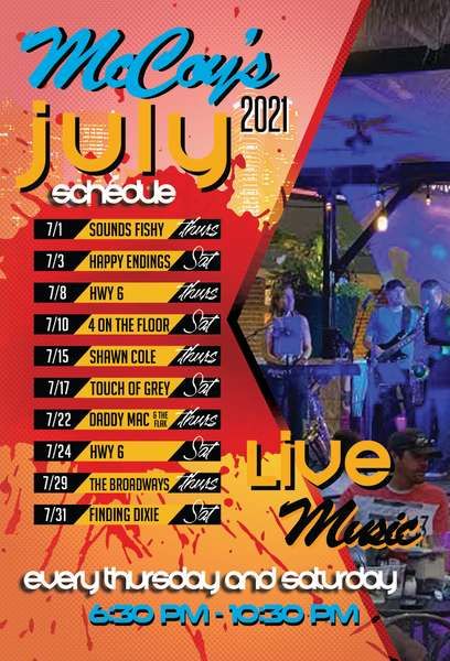 July 2021 Band Schedule
