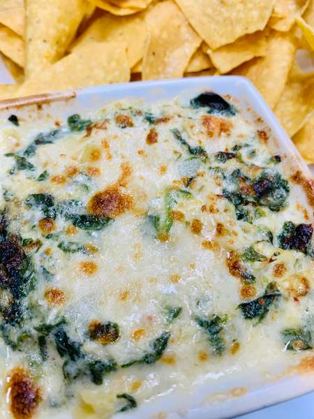 Crab Spinach and Artichoke Dip