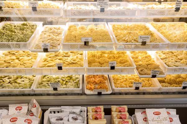 pasta shop counter