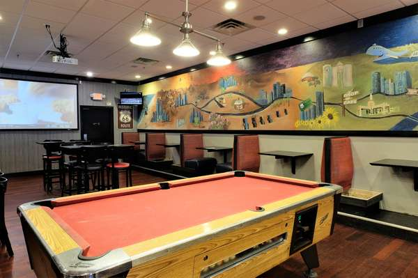 interior tables and pool table