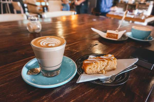 cappucino and pastry