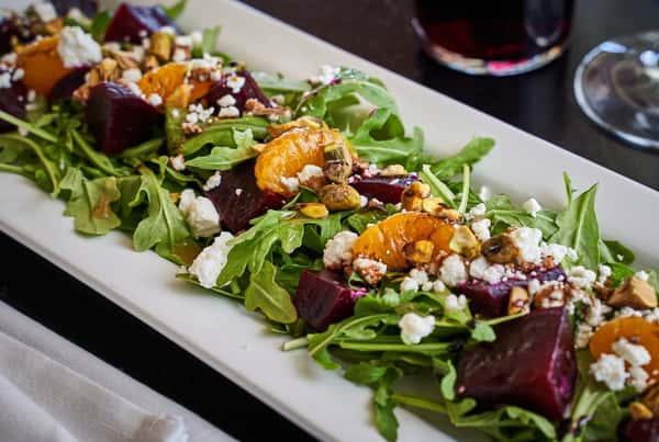 Organic Beet & Goat Cheese Salad