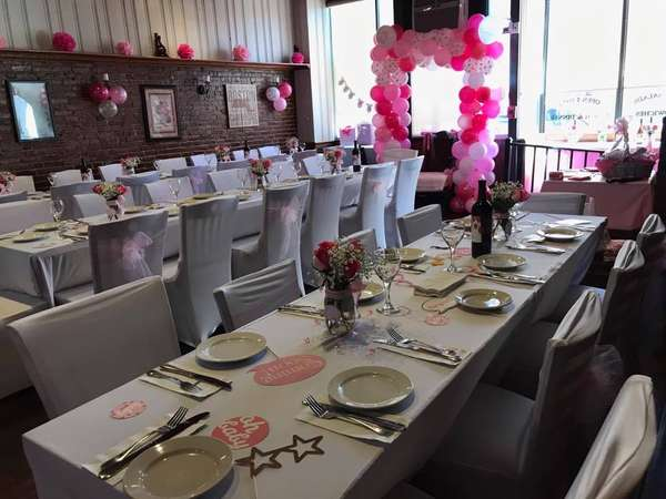 Function Room in Marlborough decorated by guests.