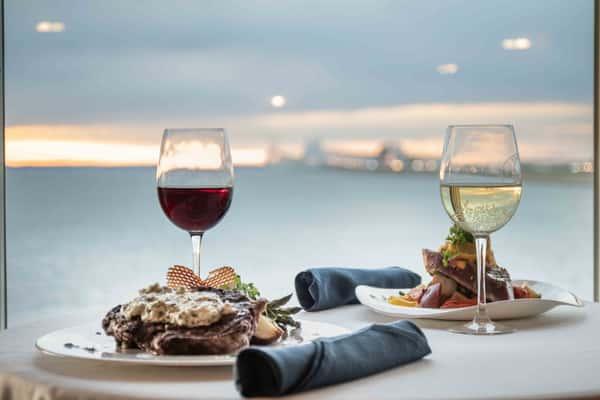 wine over the ocean