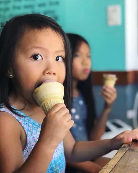 Kids enjoying ice cream at Hug Life