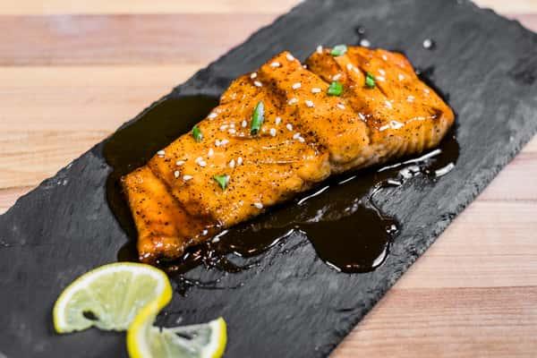 bourbon baked salmon
