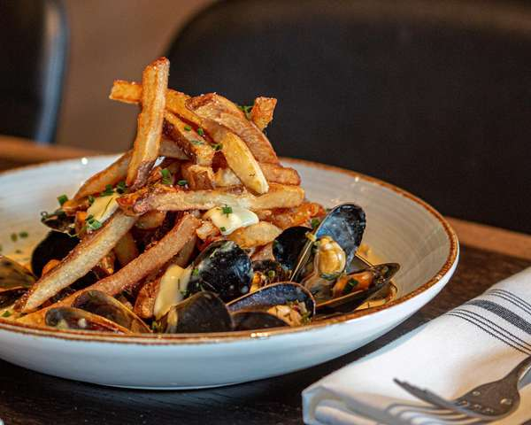 fries and mussels