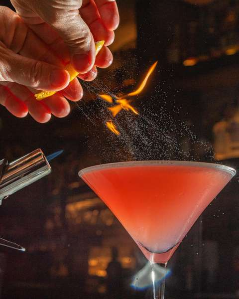 flamed cocktail