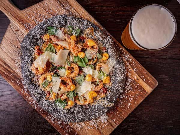 breaded shrimp pizza