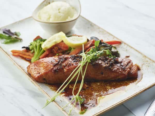 Salmon Teriyaki Full Side Catering