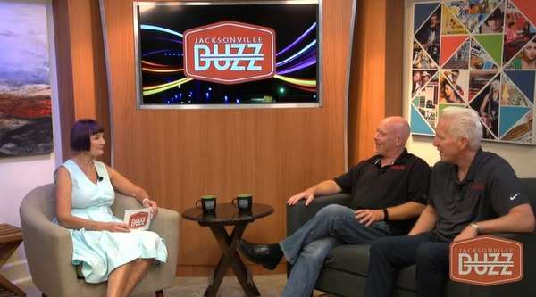 Photo of interview on the Jacksonville Buzz