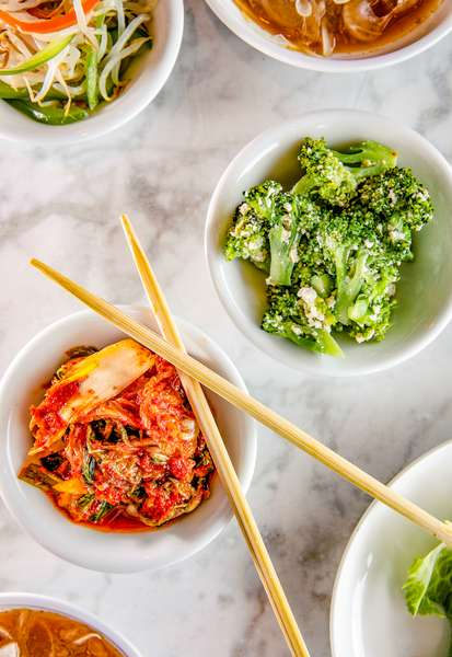 bowls with chopsticks