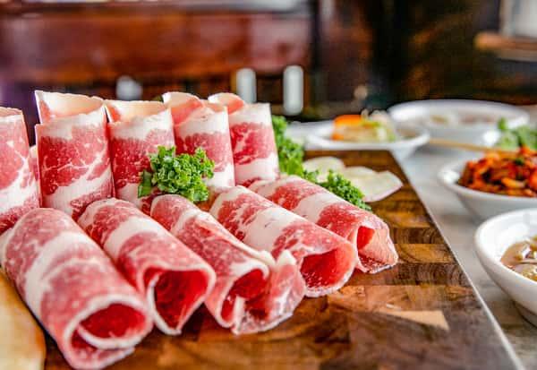rolls of meat