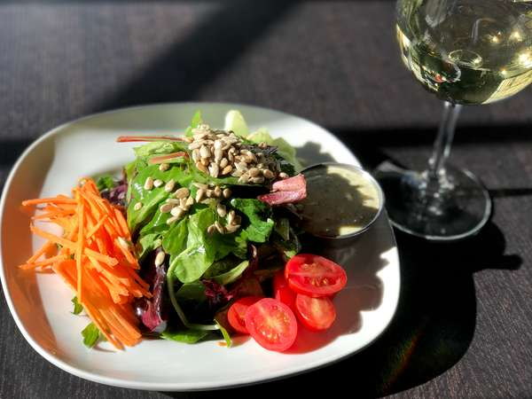 *Tupelo Salad w/ Sunflower Seeds, Cucumbers, Shredded Carrots, Cherry Tomatoes & Buttermilk Dressing