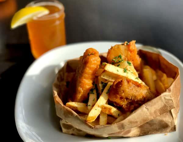 Fresh Mahi Mahi Fish 'n Chips w/ Creole Tartar Sauce