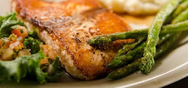 Mayhaw Glazed Salmon