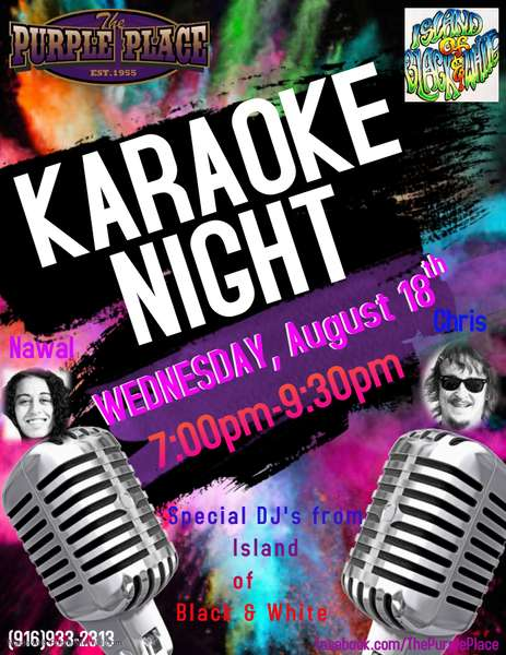 Karaoke night with Island Of Black and White!