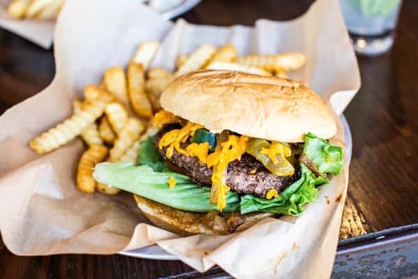 Blackened Jalapeno Cheddar Burger*