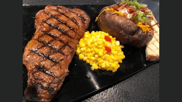 KC Strip Steak Dinner