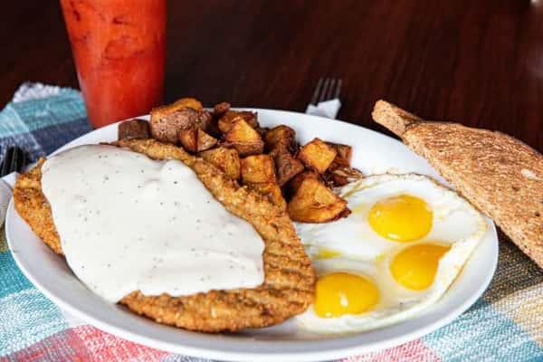 Chicken Fried Steak and Eggs*