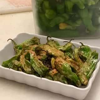 Blistered Shishito Peppers. GF