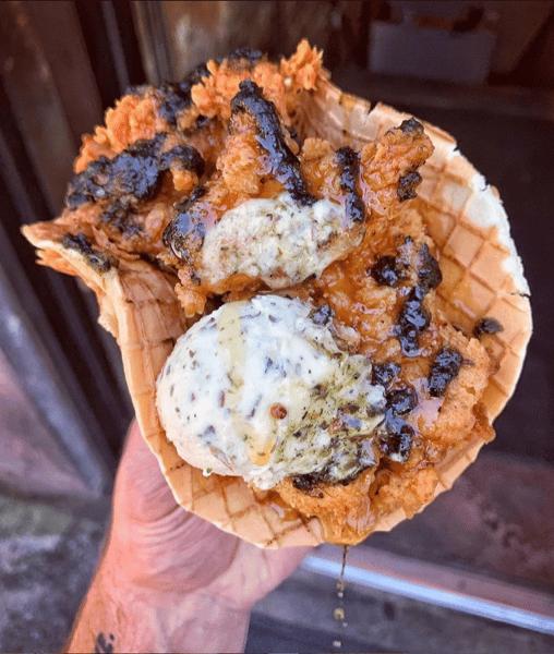 Chicken & Waffle Gyro
