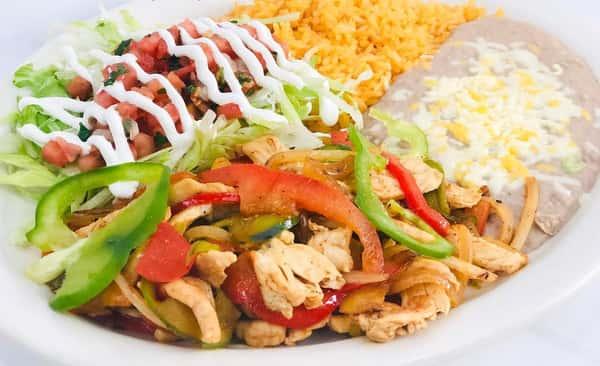 Steak, Chicken, Chorizo or Vegetable
