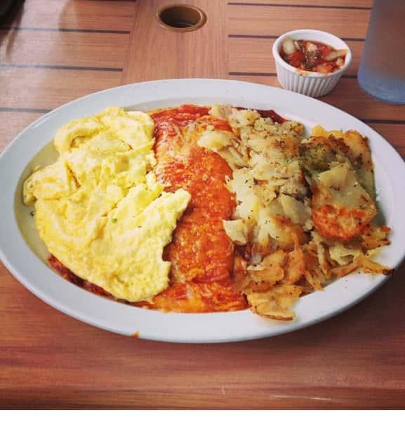 Enchilada and Eggs