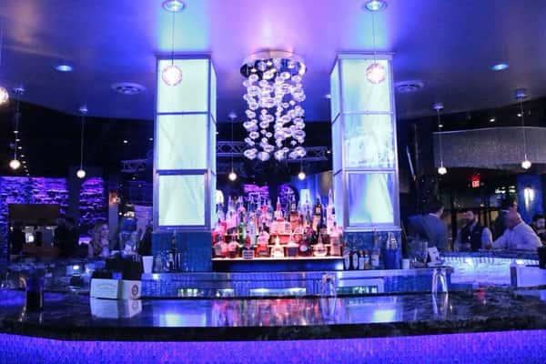 bar lit up
