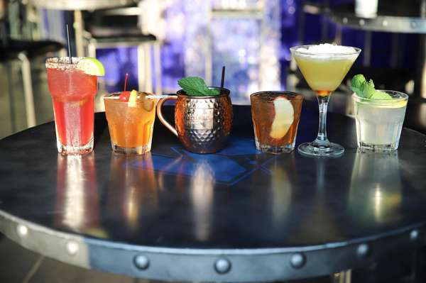 cocktails in a row