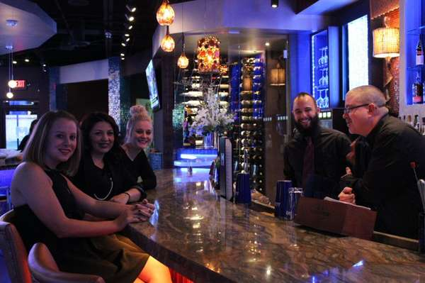bartenders and customers