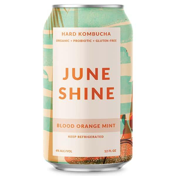 June Shine Blood Orange Mint (Hard Kambucha) (12oz. Can)