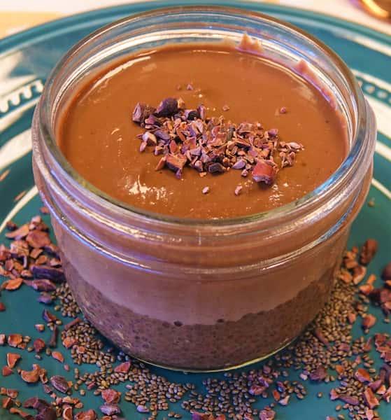 Cocoa Chia Pudding